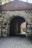 Archway leading to Akershus Fortress, Oslo, Norway royalty free stock image