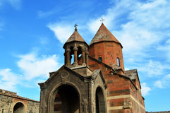Medieval Armenian monastery of Khor Virap. Front view of the medieval Armenian monastery of Khor Virap Stock Images