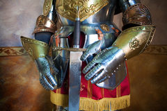 Medieval armor. Close up image of medieval armor royalty free stock photo