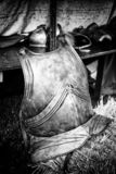 Medieval armor. Detail of an ancient armor of war and protection, bloody history royalty free stock photography