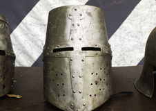 Medieval armor helmet Royalty Free Stock Photo