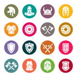 Medieval armor icon set. Vector illustration Stock Photography