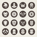 Medieval armor icon set. Vector Illustration Royalty Free Stock Photos