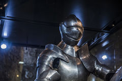 Medieval armor inside a castle Stock Photography