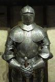 Medieval armor at Prague Castle museum. Stock Photos