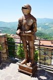 Medieval armor and roofs in San Marino Stock Photography