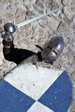 Medieval armor swordsman Stock Photography