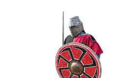 Medieval armor swordsman Royalty Free Stock Image