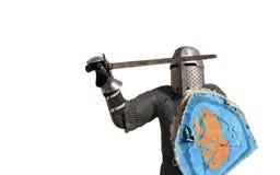 Medieval armor swordsman Royalty Free Stock Photography