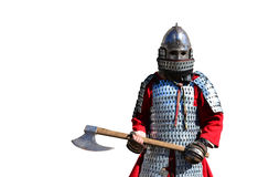 Medieval armor warrior Stock Photography