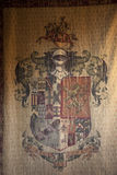 Medieval armorial bearings. An old medieval Arms Flag Royalty Free Stock Image