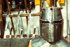 Medieval Armory. Medieval armor and weapons at Medieval festival from Brasov city Royalty Free Stock Photography