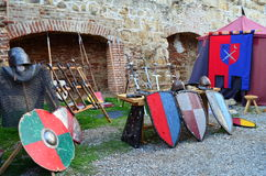 Medieval armour and fighting equipments  Stock Photography