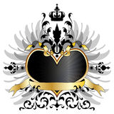 Medieval arms of heart Royalty Free Stock Photo
