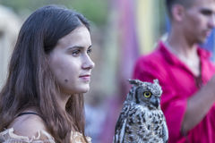 Medieval Arts Festival 2015 - Suceava Medieval Crown Fortress Stock Images