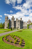 Medieval Ashford castle. 13th Century Ashford castle and gardens - Co. Mayo - Ireland Royalty Free Stock Images