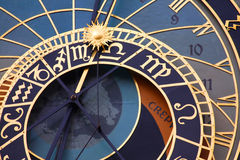 Medieval astronomical clock Stock Photography