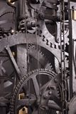 Medieval astronomical clock gearing - interior Royalty Free Stock Photo