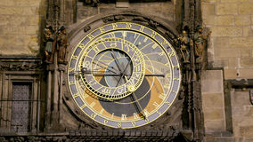 Medieval astronomical clock in the Old Town square in Prague, Czech republic Royalty Free Stock Photo