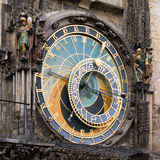 Medieval astronomical clock in Prague Royalty Free Stock Images