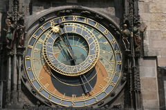 Medieval Astronomical Clock in Prague, Czech Republic Stock Photography