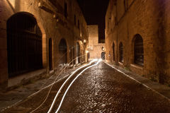 Medieval Avenue of the Knights, Rhodes Stock Image