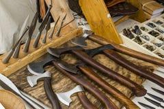 Medieval axes Stock Photos