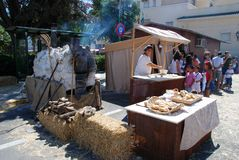 Medieval Bakers stall, Spain. Royalty Free Stock Photography
