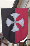 Medieval banner. With a cross as symbol royalty free stock photos