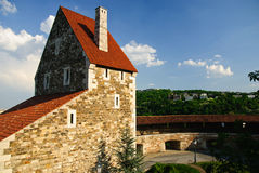Medieval barbican, castle in Budapest, Hungary Stock Photography