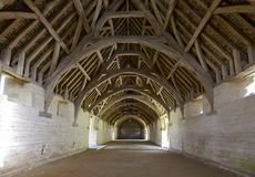 Medieval barn interior, Bradford on Avon Stock Photography