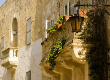 Medieval Baroque Balcony Stock Photos