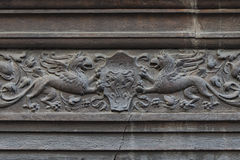 Medieval bas relief Stock Images