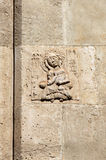 Medieval bas-relief, made of stone Royalty Free Stock Photo