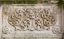 Medieval bas-relief Royalty Free Stock Photos