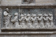 Medieval bas-relief, Venice, Italy Royalty Free Stock Photo