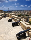 Medieval Battery and Cannons Stock Photo