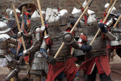 Medieval battle Stock Image