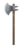 Medieval battle-axe isolated stock photography