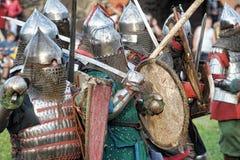 Medieval battle Stock Photo