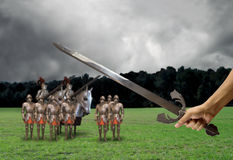 Medieval battle Royalty Free Stock Photo