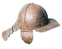 Medieval battle helmet Stock Images