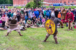 Medieval battle reconstruction Royalty Free Stock Photography