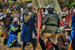 Medieval battle of the 13th century Royalty Free Stock Photo