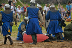 Medieval battle of the 13th century Stock Image