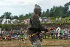 Medieval battle of the 13th century Royalty Free Stock Photography