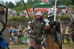 Medieval battle of the 13th century Royalty Free Stock Photos