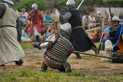 Medieval battle of the 13th century Royalty Free Stock Images