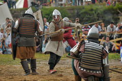 Medieval battle of the 13th century Stock Photography