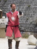 Medieval battle theatrical performance in Les Baux-de-Provence, France Royalty Free Stock Photos